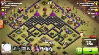 getlinkyoutube.com-Th9 vs Th9 gowipe 3 star in clan wars