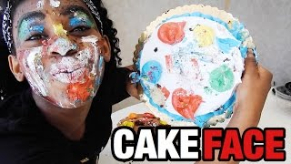 getlinkyoutube.com-FULL FACE USING ONLY  CAKE??? | AlliCattt
