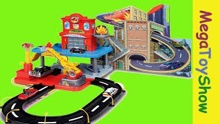getlinkyoutube.com-Bburago Fire Street Fire Station Playset toys for boys #Mega Toy Show
