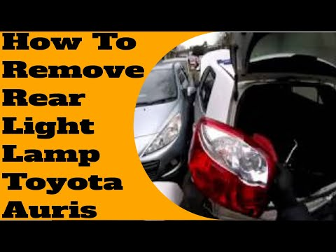 How to remove rear light Toyota Auris 2010-2013