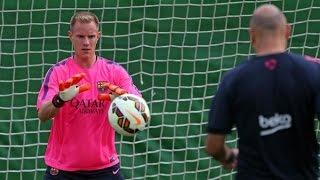 getlinkyoutube.com-Ter Stegen Training Normally Again   FC Barcelona   1080p HD