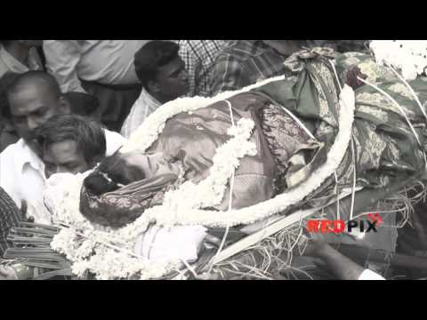 Veteran actress Manjula Vijayakumar died -- The Funeral.[RED PIX]