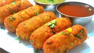 getlinkyoutube.com-Corn Kebab | Crispy Corn Kebabs | Corn Cutlets | Instant Snack Recipe| Party Appetizer