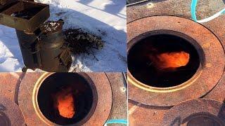 getlinkyoutube.com-Экономная плита на дровах . Обзор (rocket stove/로켓 스토브)