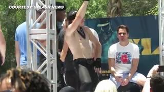 getlinkyoutube.com-(VIDEO) Channing Tatum, Matt Bomer Dancing at LA Gay Pride Festival 2015 | Magic Mike XXL Promotions
