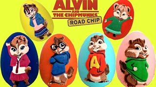 Biggest SET Alvin and the Chipmunks Playdoh Egg Toy Surprises with The Chipettes! / TUYC