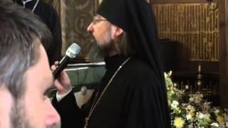 Молебен, приветствия и награждения по окончании Архиерейской Божественной литургии