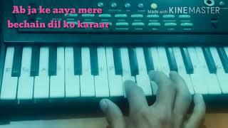 Dekha hai pehli baar ( SAAJAN ) song on piano || BT NITIN SHARMA || PIANO TUTORIAL ||