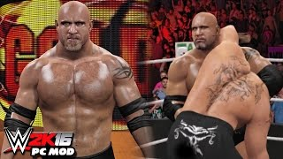 getlinkyoutube.com-WWE 2K16 PC Mods - Goldberg Character Mod With All GFX & Titantron!