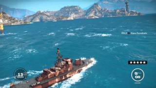 getlinkyoutube.com-Just Cause 3 - Platteforma Petral Oil Rig Liberated: Epic Battleship & Helicopters 5 Stars Gameplay