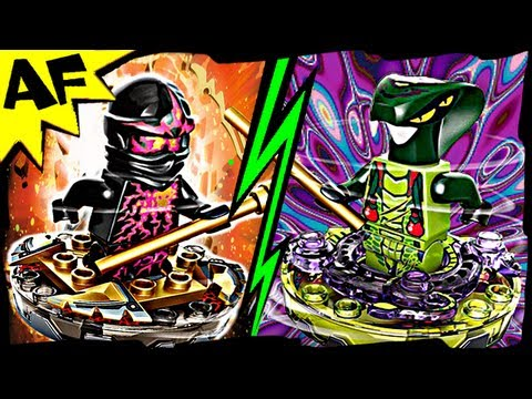 NRG COLE vs SPITTA Lego Ninjago Spinjitzu Battle & Anima