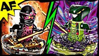 getlinkyoutube.com-NRG COLE vs SPITTA Lego Ninjago Spinjitzu Battle & Stop Motion Review 9572 9569