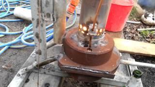 waste oil burning water heater