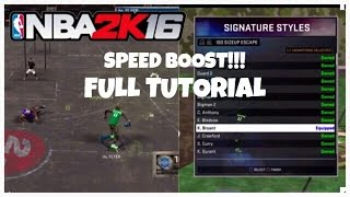 getlinkyoutube.com-NBA 2K16 HOW TO SPEED BOOST / FULL TUTORIAL - Flyer Da Great