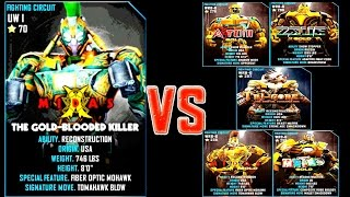 getlinkyoutube.com-Real Steel WRB MIDAS (CHAMPION) VS GOLD ROBOTS Series of fights NEW ROBOT (Живая Сталь)