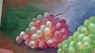 getlinkyoutube.com-Tirando Dúvidas Sobre Pintura - Como pintar uvas