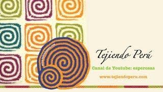 getlinkyoutube.com-Tejido en espiral en dos colores a crochet (redondo y cuadrado o granny square)
