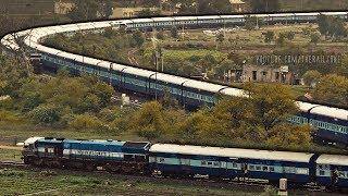 Single Line Crossing Trains | Shindawane Ghat | Goa Vs Ajmer Express | Indian Railways