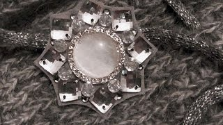 How To Make A Sparkling A Brooch With Rhinestones. - DIY Style Tutorial - Guidecentral