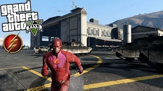 getlinkyoutube.com-GTA 5 THE FLASH Mod - RUNNING ON WATER