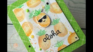 Lawn Fawn Aloha | Faux No Line Watercolor | Tombow Markers