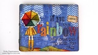 getlinkyoutube.com-Art Journal Page: If you love the rainbow...
