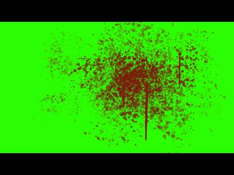 Blood Splatter on the Wall - Green Screen Animation