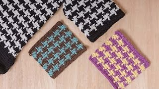 getlinkyoutube.com-Tunisian  Crochet Houndstooth Pattern for Houdstooth Coat