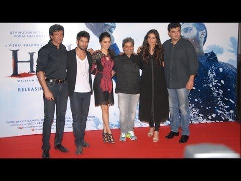 Haider Movie Trailer Launch | Shahid Kapoor, Tabu & Shraddha Kapoor
