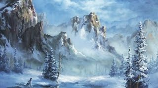 getlinkyoutube.com-Snowy Mountain | Paint with Kevin Hill | artist oil painting