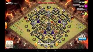 getlinkyoutube.com-Clan Wars Ep 8 - How To 3-Star Maxed Defensive Bases TH9 in 90 secs