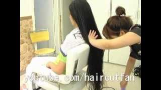 getlinkyoutube.com-超ロングヘア 4 ☆ Super Long Hair  断髪 Haircut