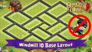 getlinkyoutube.com-Clash Of Clans: TH10   BEST Farming Base Layout - Windmill 10