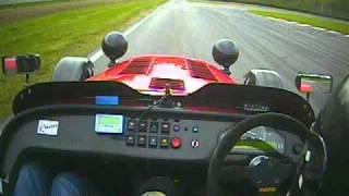 getlinkyoutube.com-Caterham R500 vs Ferrari 430 Scuderia - Vålerbanen 20.Sept-2010.AVI