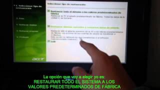 getlinkyoutube.com-Formatear pc con 2 botones fácil ! 2013 SOLO PC ACER