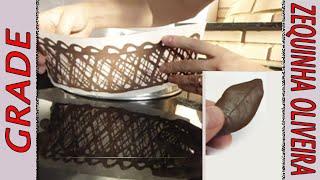 getlinkyoutube.com-Grade e Folha de Chocolate passo a passo