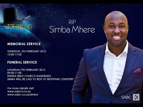 Simba Mhere's memorial service: 5 February 2015