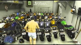getlinkyoutube.com-#158【GTA5】車庫に大量のバイクを入れて大爆発!!