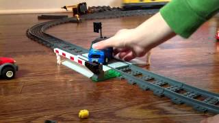 getlinkyoutube.com-Lots of lego cars get crashed by lego train.