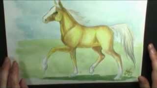 getlinkyoutube.com-How to paint a Palomino Horse