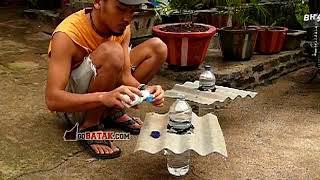 getlinkyoutube.com-Membuat lampu botol 10 watt dari botol bekas tanpa listrik - GB green project 01
