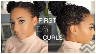 getlinkyoutube.com-Two Hairstyles for FIRST DAY Curls! [Natural Hair]