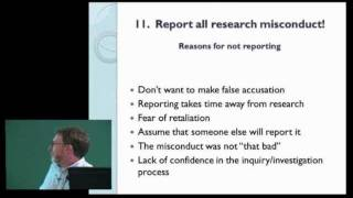 Research Integrity Lecture, Dr. Bazett-Jones at the Lady Davis Institute