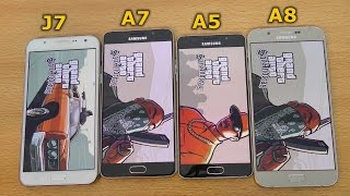 Samsung Galaxy A7 (2016) vs J7 vs A8 vs A5 (2016) - GTA San Andreas Gameplay Test (4K)