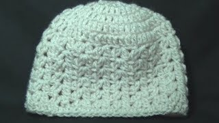 getlinkyoutube.com-Cluster V Stitch Hat Crochet Tutorial