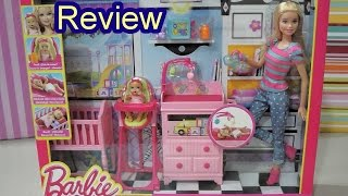 getlinkyoutube.com-Barbie Careers Babysitter Doll and Playset review DIY