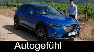 getlinkyoutube.com-All-new Mazda CX-3 FULL REVIEW test driven 2016 small SUV sports + center line - Autogefühl