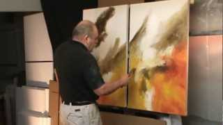 getlinkyoutube.com-abstract painting demo. 'Sea Storm' creating movement and depth with color and blending