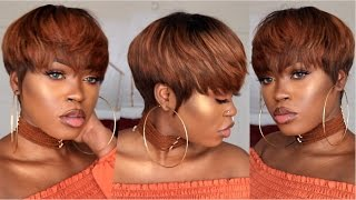 getlinkyoutube.com-DIY| Copper Pixie Bowl Cut Wig
