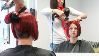 getlinkyoutube.com-short bob haircut hairstyle 2016 with undercut and extreme shaved nape |buzzcut by alisha heide